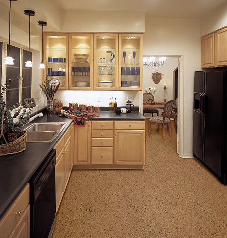 Cork Sustainable Flooring Gallery: Kitchen